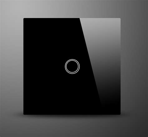 touch wall light switch glass switch 1 gang 1 way decorative black modern designer