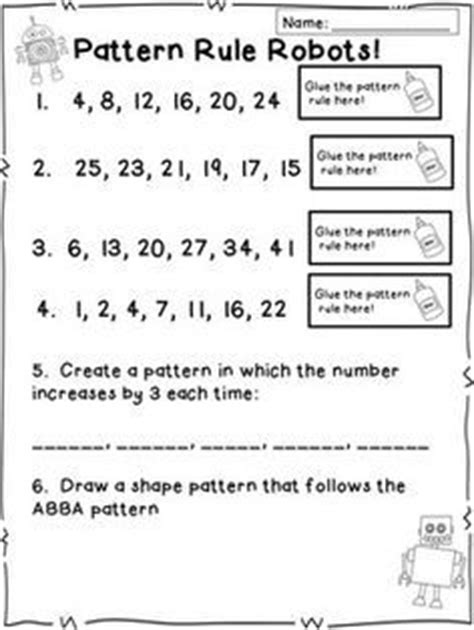 pattern rule answers 26 question quiz on number patterns and pattern rules