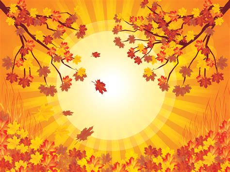 Yellow Tree Autumn Backgrounds Nature Templates Free Ppt Grounds And Powerpoint Fall Powerpoint Background