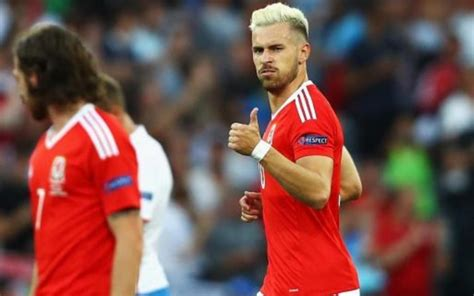 aaron ramsey bleaches hair for wales euro 2016 caign image aaron ramsey s new hair style is contagious