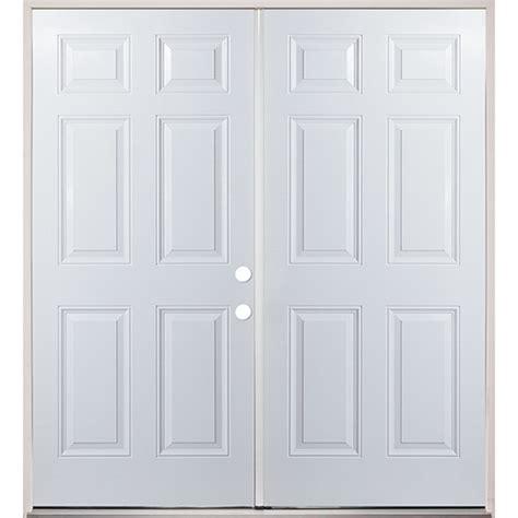 Prehung Metal Exterior Door 60 Quot Raised Panel Prehung Exterior Steel Door Unit Left Surplus Warehouse