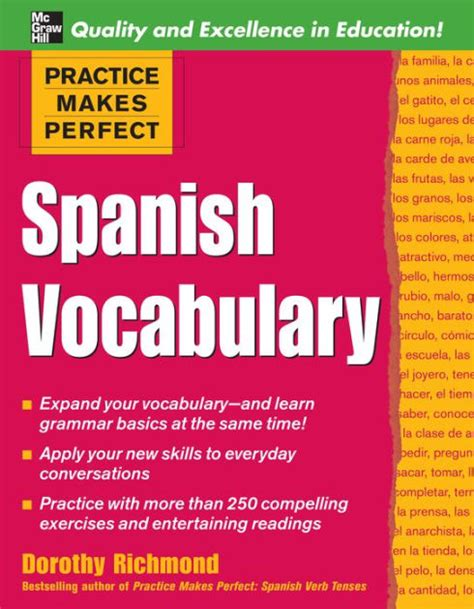 libro practice makes perfect spanish practice makes perfect spanish vocabulary spanish vocabulary by dorothy richmond nook book