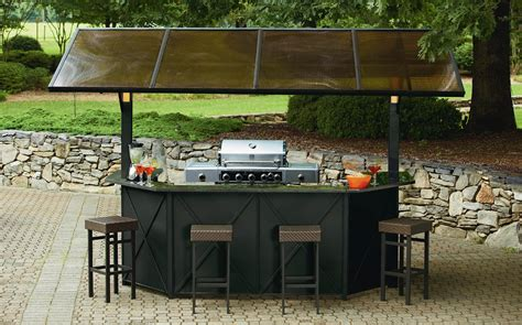 Backyard Pub And Grill Ty Pennington Style Sunset Hardtop Grill Gazebo Bar