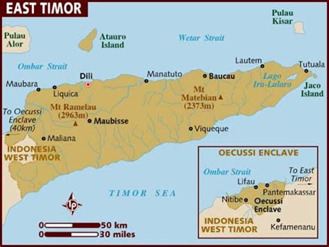 where is east timor on a map pacific sentinel june 2013