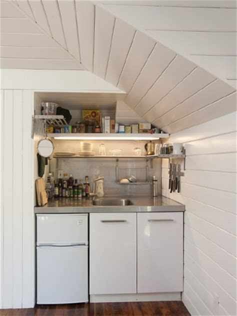 studio kitchens tiny carriage house conversion small spaces