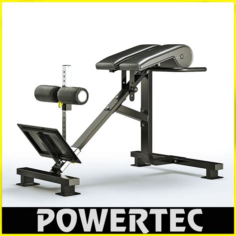 hyperextension multi bench max powertec p hc10 dual hyperextension