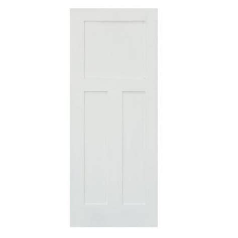 home depot solid core krosswood doors 30 in x 80 in craftsman shaker 3 panel primed solid mdf right single