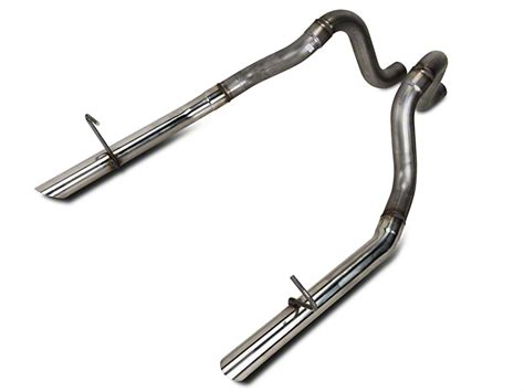 flowmaster 2 5in stainless mustang tailpipes 815814 87 93