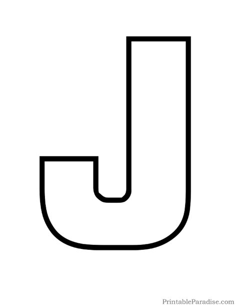 capital letter j coloring page printable letter j outline print bubble letter j