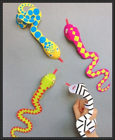 Free Craft Papers - papercraftsquare new paper craft snake finger