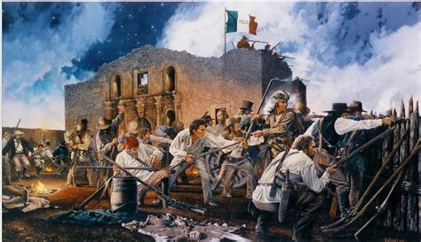 the siege of the alamo richard luce for god and signed numbered print