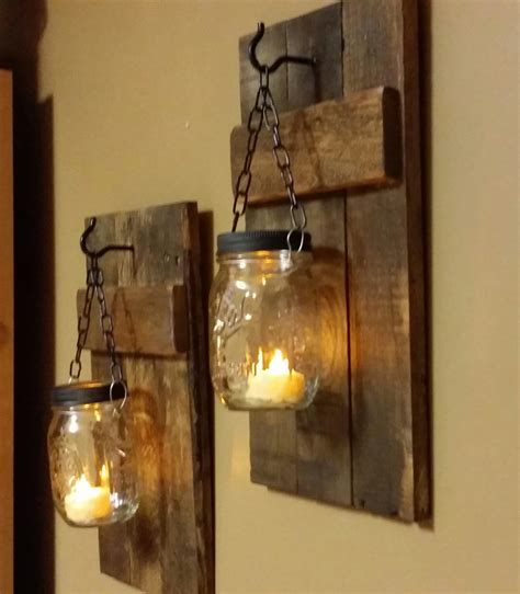 Candle Holder Wall Decor by Rustic Wood Candle Holder Rustic Home By Teestransformations