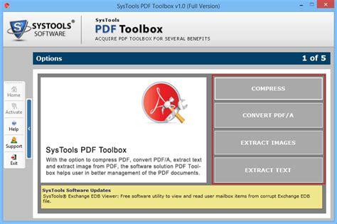 compress pdf utility pdf toolbox utility full windows 7 screenshot windows 7