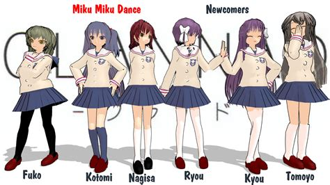 clannad anime website clannad characters names www pixshark images