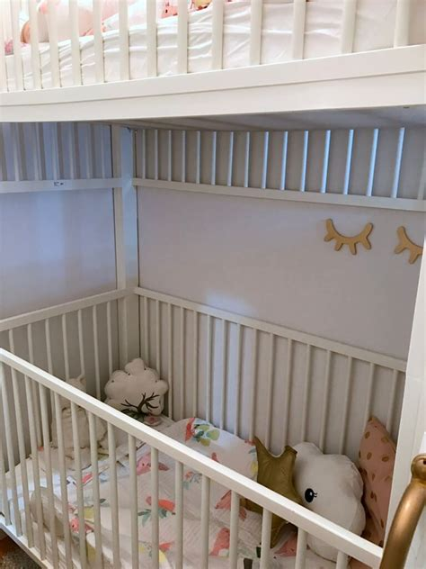 Crib Bunk Bed Hacked From Ikea Gulliver Cots Ikea Crib Bunk Bed