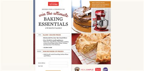 Baking Sweepstakes - sweepstakeslovers daily america s test kitchen passengers gate more