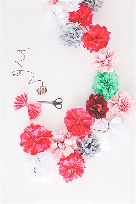 How To Make Tissue Paper Flower Garland - top 10 diy floral garland and backdrop ideas for your home