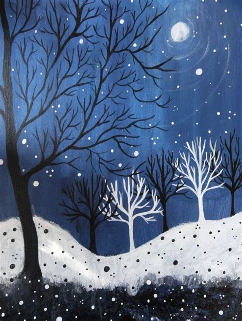 winter themed drawing image result for easy winter scenes to paint painting