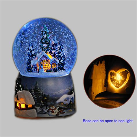 led christmas snow globe with high quality