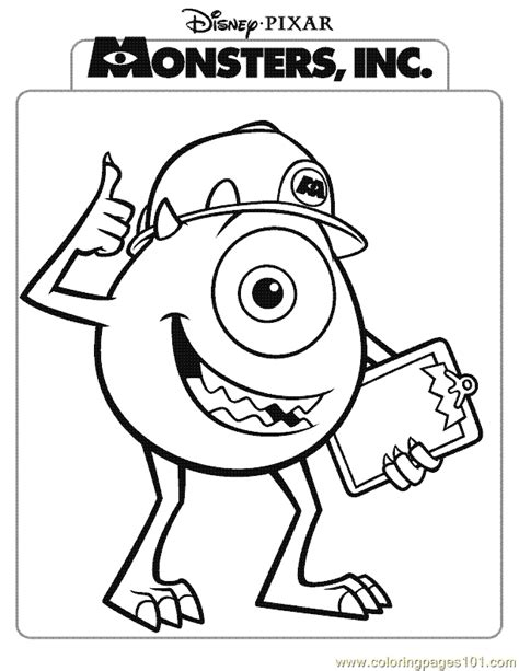 monsters inc coloring pages pdf coloring pages monsters inc coloring page 03 cartoons