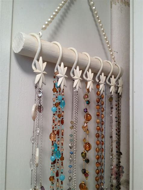 curtain hanging hooks diy jewelry hanger made with shower curtain hooks a