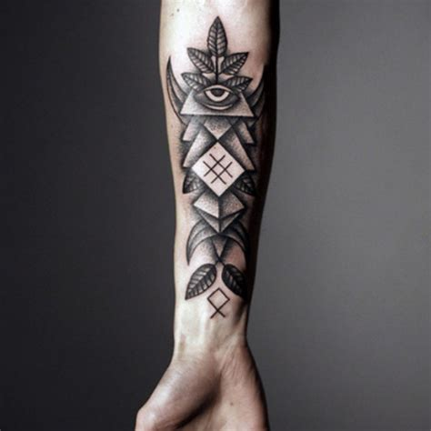 tattoo lower arm designs lower arm eye triangle design tattooshunt