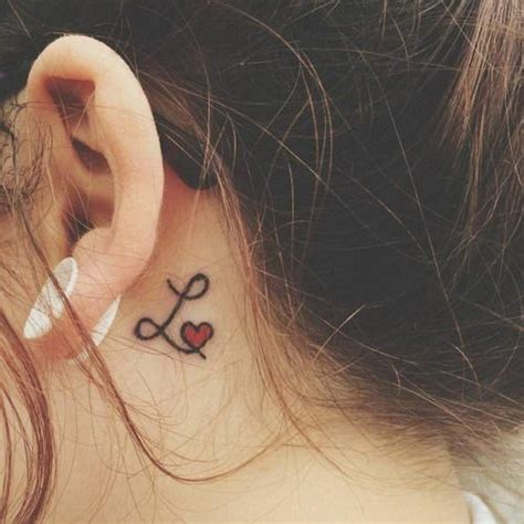 tattoo letters l 60 pretty designs of ear tattoos 2017