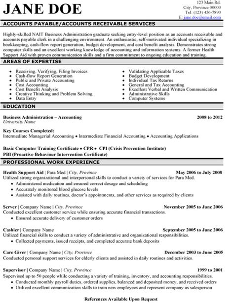 Sample Resume Format For Accounts Officer by Click Here To Download This Accounts Payable Resume