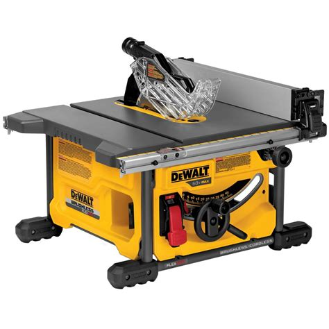 table saw dewalt flexvolt 60 volt max lithium ion cordless brushless 8 1 4 in table saw tool only