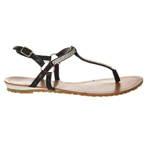 flat sandal shoes flat ankle sandal with t bar miss from miss