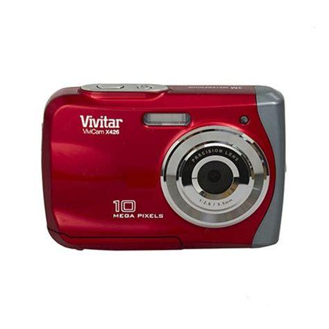 buy vivitar 10mp waterproof digital camera (vx426 red pr