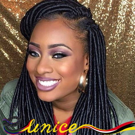 artificial dreadlock hairstyles aliexpress com buy eunice brand faux locs braids
