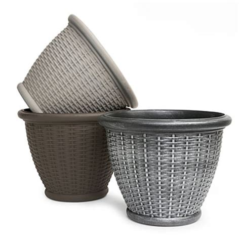 Resin Wicker Planters by View 16 Quot Resin Wicker Planters Deals At Big Lots