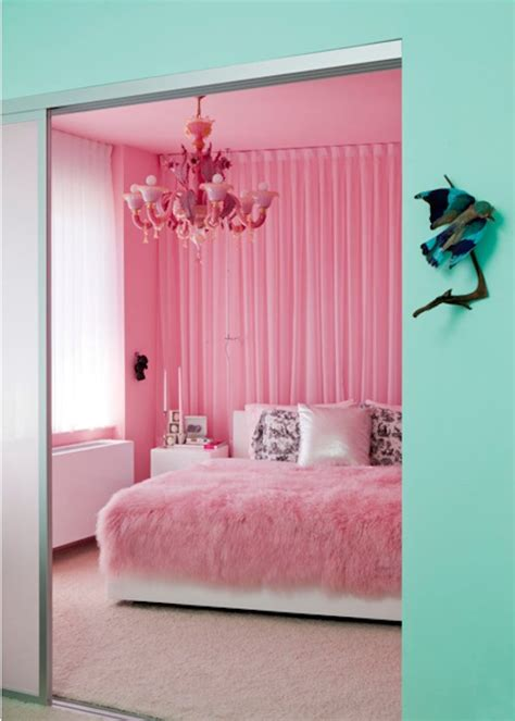 pink and mint green bedroom room of the day powder puff pink pad homejelly
