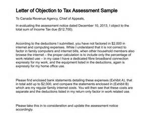 Property Tax Appeal Letter by Letter Of Objection