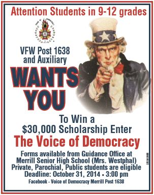 Voice Of Democracy Essay Contest 2017 by Voice Of Democracy 30 000 Scholarship Contest