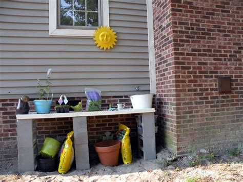 inexpensive potting bench new cheap diy potting bench pictures from my garden pinterest