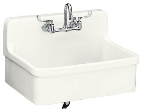 wall mounted kitchen sinks kohler k 12700 0 gilford apron front wall mount kitchen