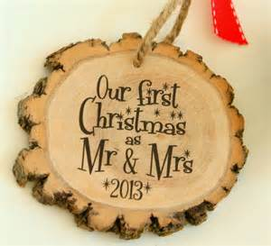our first christmas as mr amp mrs new modern christmas ornament