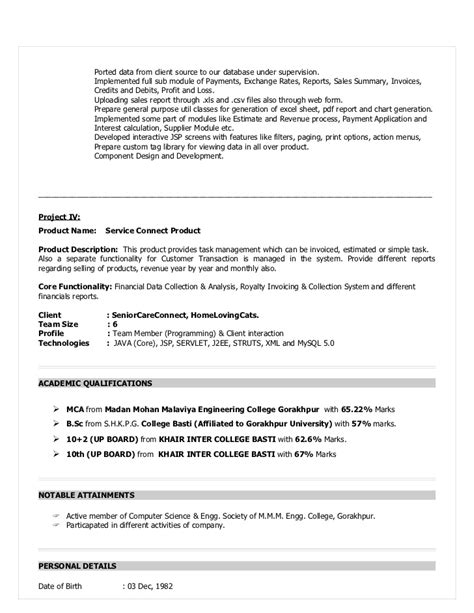 Sle Resume Format For One Year Experience Junior Java Programmer Resume Sle Sidemcicek 50 Awesome Photograph Of Java 2 Years