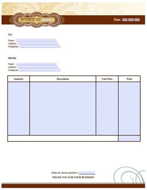 free artist invoice template excel pdf word doc