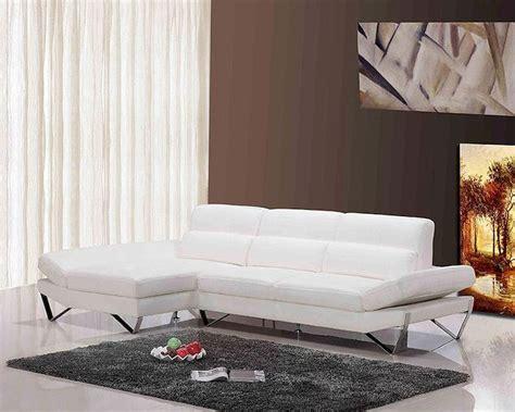 White Sectional Leather Sofa Modern Modern White Leather Sectional Sofa 44l6021