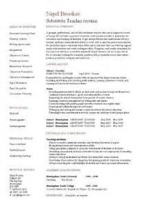 substitute teacher resume example template sample