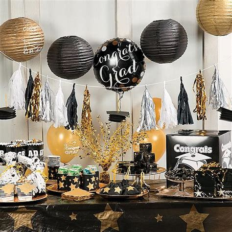 party themes black celebrate your grad with party decorations that set the