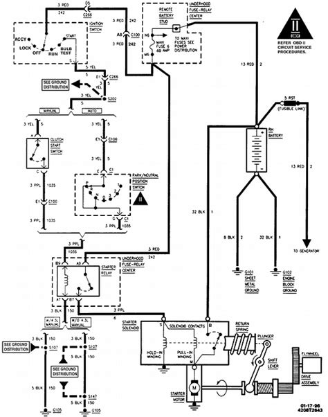 1996 chevrolet k1500 ignition switch wiring diagram truck