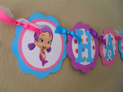 bubble guppies happy birthday banner presli s 2nd