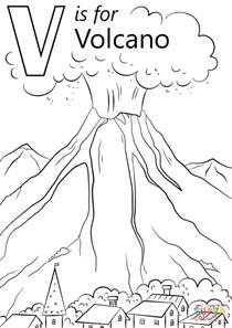 coloring pages for volcanoes v is for volcano coloring page free printable coloring pages