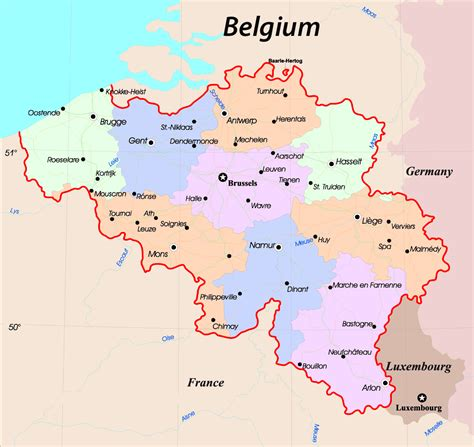 map of europe belgium detailed map of belgium in tourist new zone