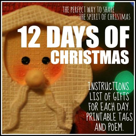 12 days of christmas gifts poems 12 days of the spirit today s the best day