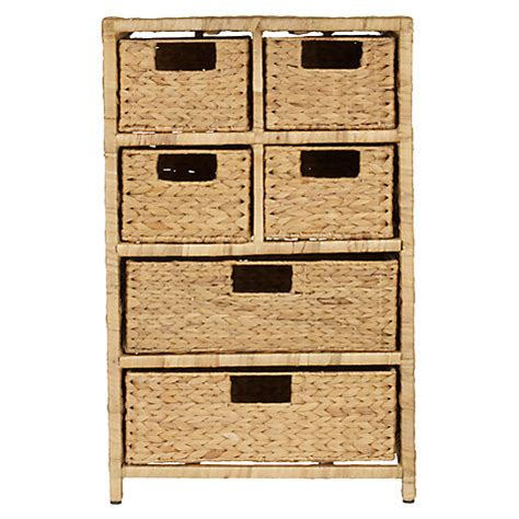 6 Drawer Storage Unit Buy Lewis Water Hyacinth Storage Unit 6 Drawer